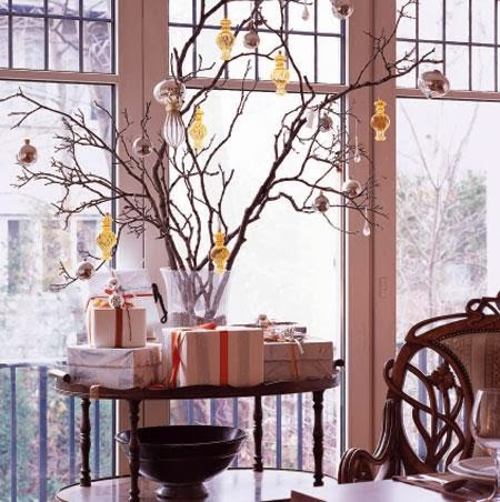 Decorating for Christmas with branches18