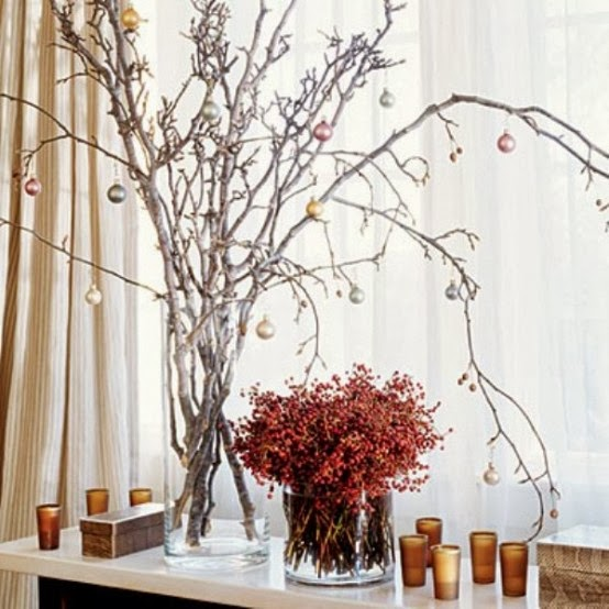 Decorating for christmas with branches my desired home