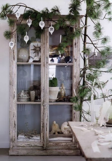 Decorating for Christmas with branches2