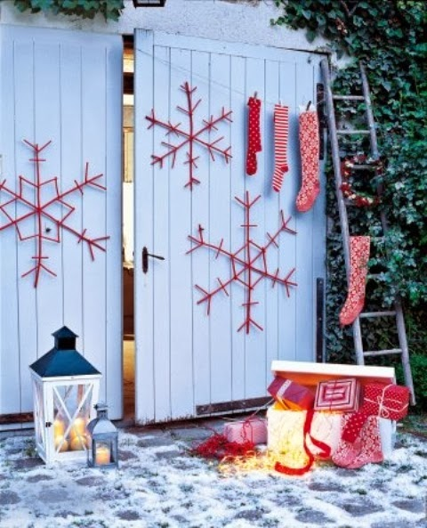 Decorating for Christmas with branches6