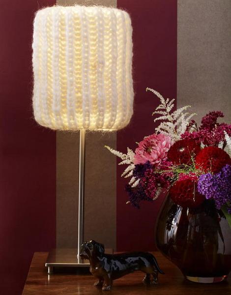 Strick: Lampenschirm