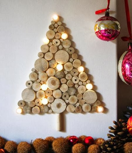 wooden Christmas tree ideas21