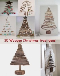 wooden Christmas tree ideas30