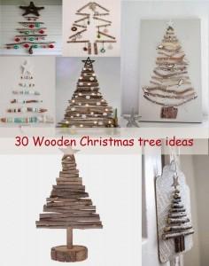 wooden Christmas tree ideas30