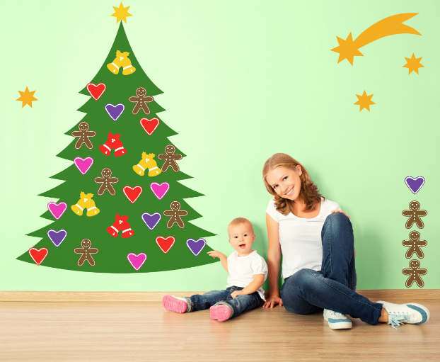 Diy adhesive Christmas Trees by Pixers10