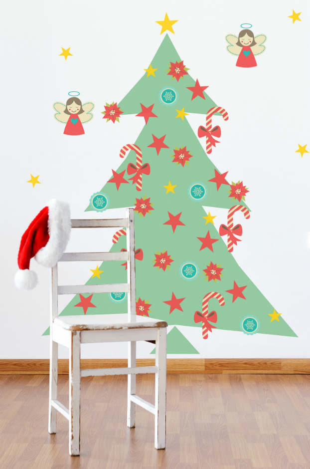 Diy adhesive Christmas Trees by Pixers3