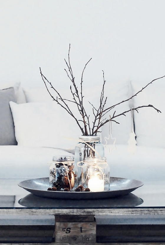 Natural and simple Christmas center decor ideas2