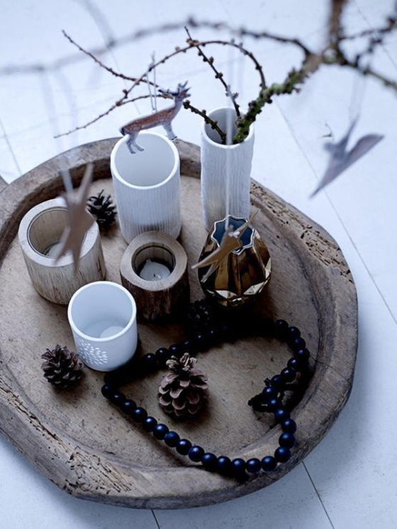 Natural and simple Christmas center decor ideas3