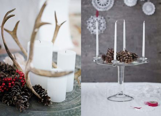 Natural and simple Christmas center decor ideas4