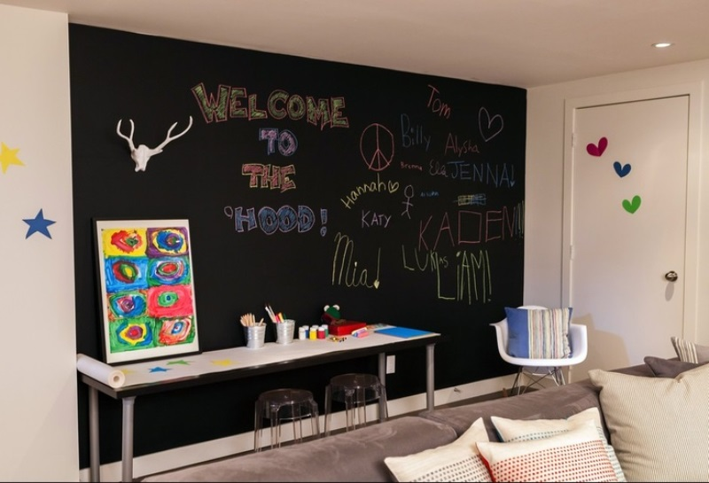 Blackboard in kids room9