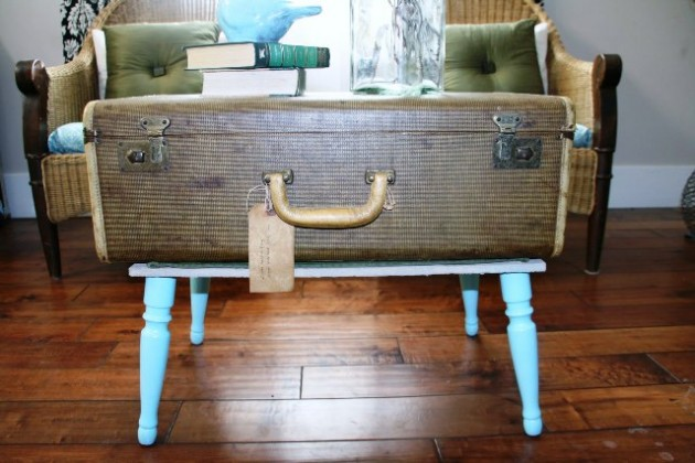 How to make a suitcase table1