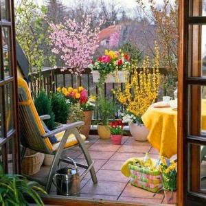 Ideas for small gardens - Balconies1