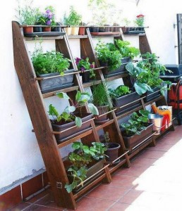 Ideas for small gardens - Balconies17