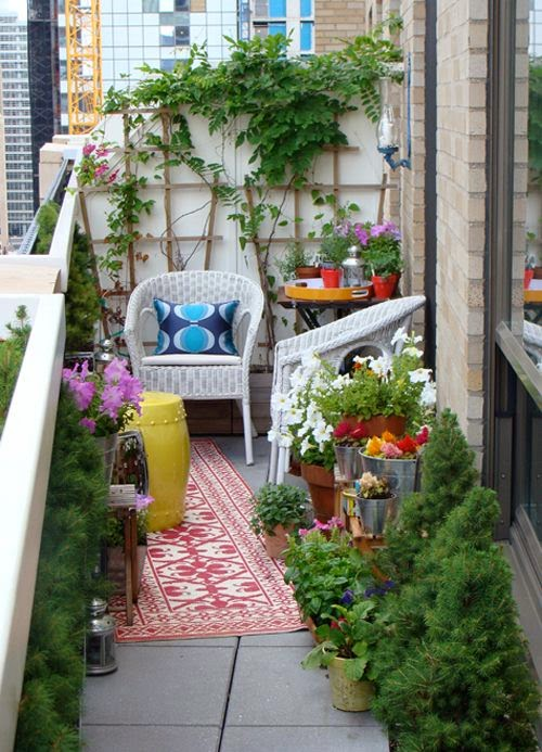 Ideas for small gardens - Balconies19