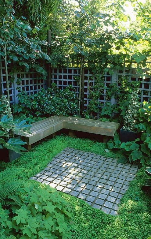 Ideas for small gardens balconies24 my desired home for Small shady courtyard ideas