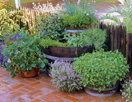 Ideas for small gardens - Balconies3