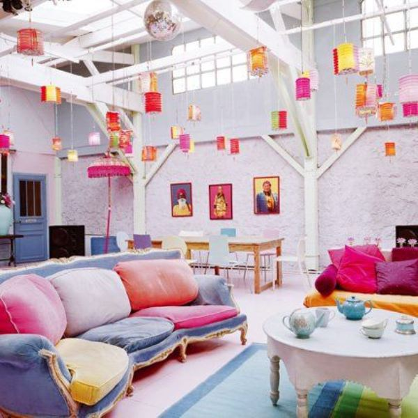Colourful spaces with playful style1