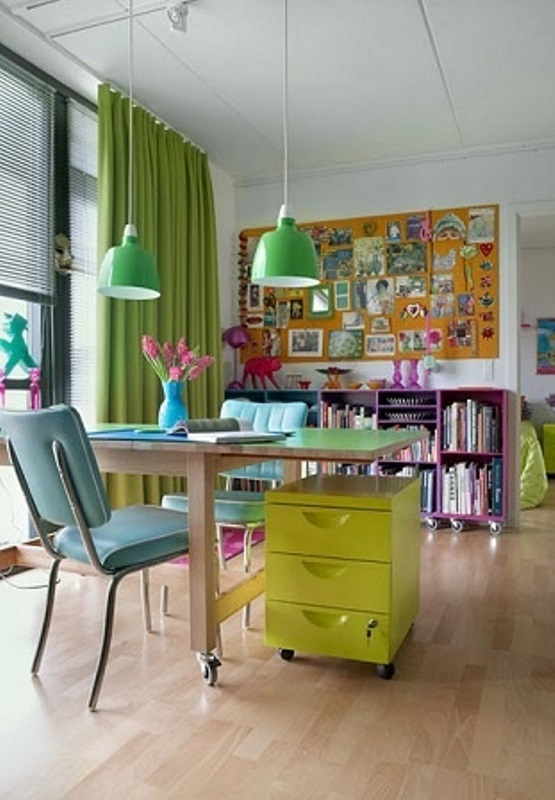Colourful spaces with playful style4
