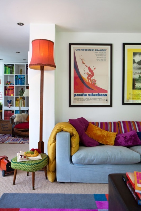 Colourful spaces with playful style6