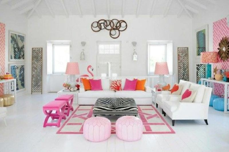 Colourful spaces with playful style8