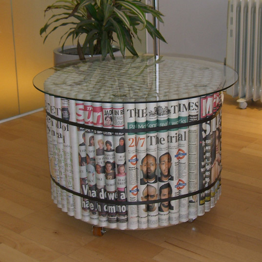 Diy Furniture made from newspapers3