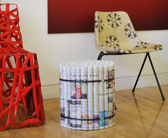 Diy Furniture made from newspapers4