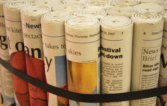 Diy Furniture made from newspapers5