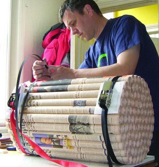 Журнальный столик из газетных трубочек своими руками