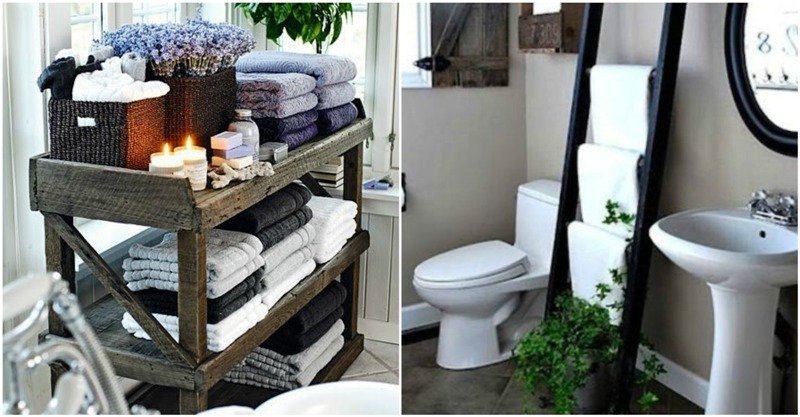 Clever ideas to organize your bath towels