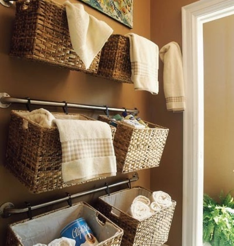 Clever ideas to organize your bath towels3