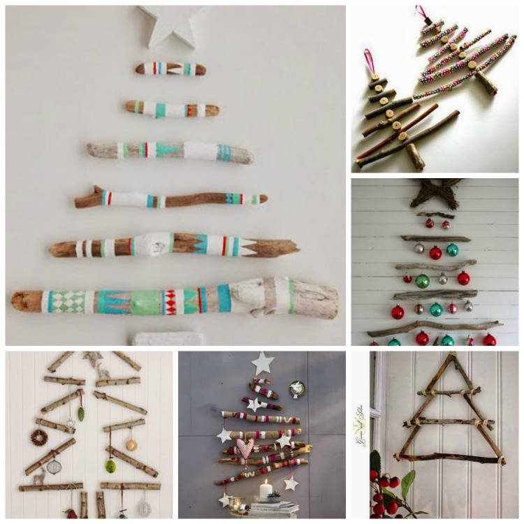 42 christmas tree ideas from log and branches - Christmas Tree Branch Decorations