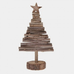 Christmas tree ideas from log and branches11
