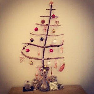 Christmas tree ideas from log and branches14