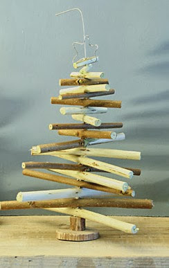Christmas tree ideas from log and branches16