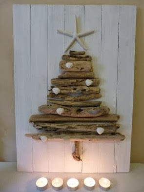 Christmas tree ideas from log and branches19
