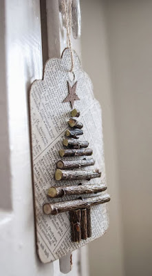 Christmas tree ideas from log and branches20