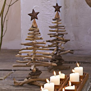 Christmas tree ideas from log and branches28