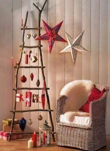 Christmas tree ideas from log and branches38