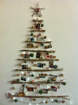 Christmas tree ideas from log and branches6