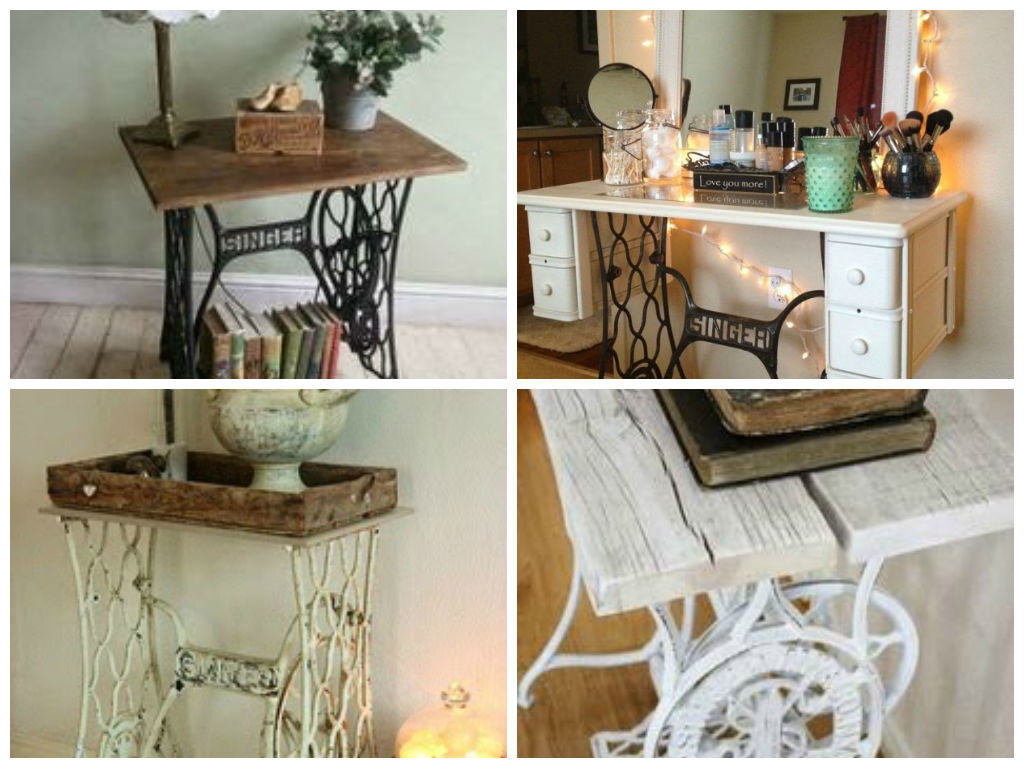 Vintage decorations ideas with old sewing machines my for Best home decor sewing machine