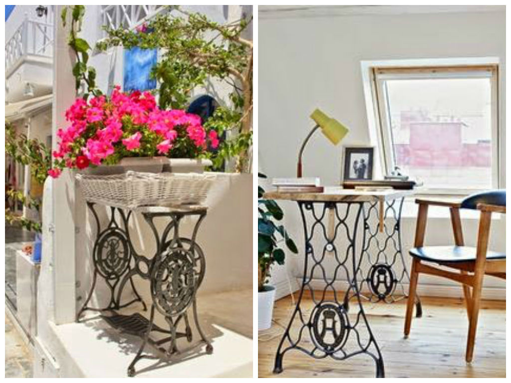 Vintage Decorations Ideas With Old Sewing Machines My Desired Home