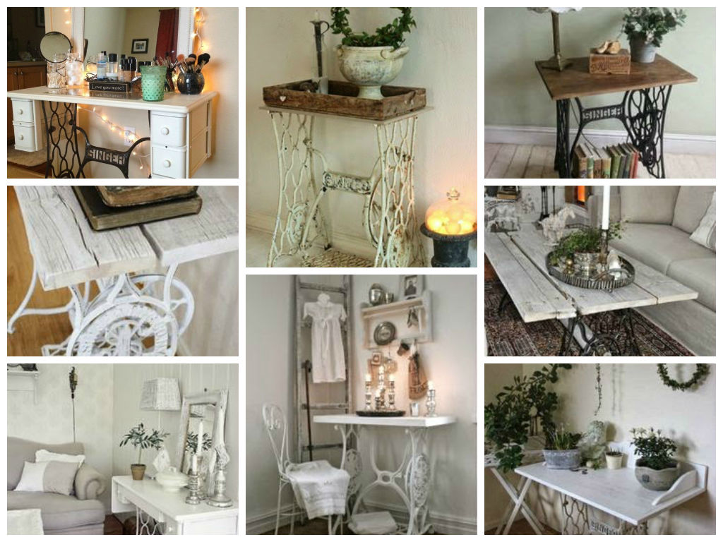 Vintage decorations ideas with old sewing machines my for Antiques decoration
