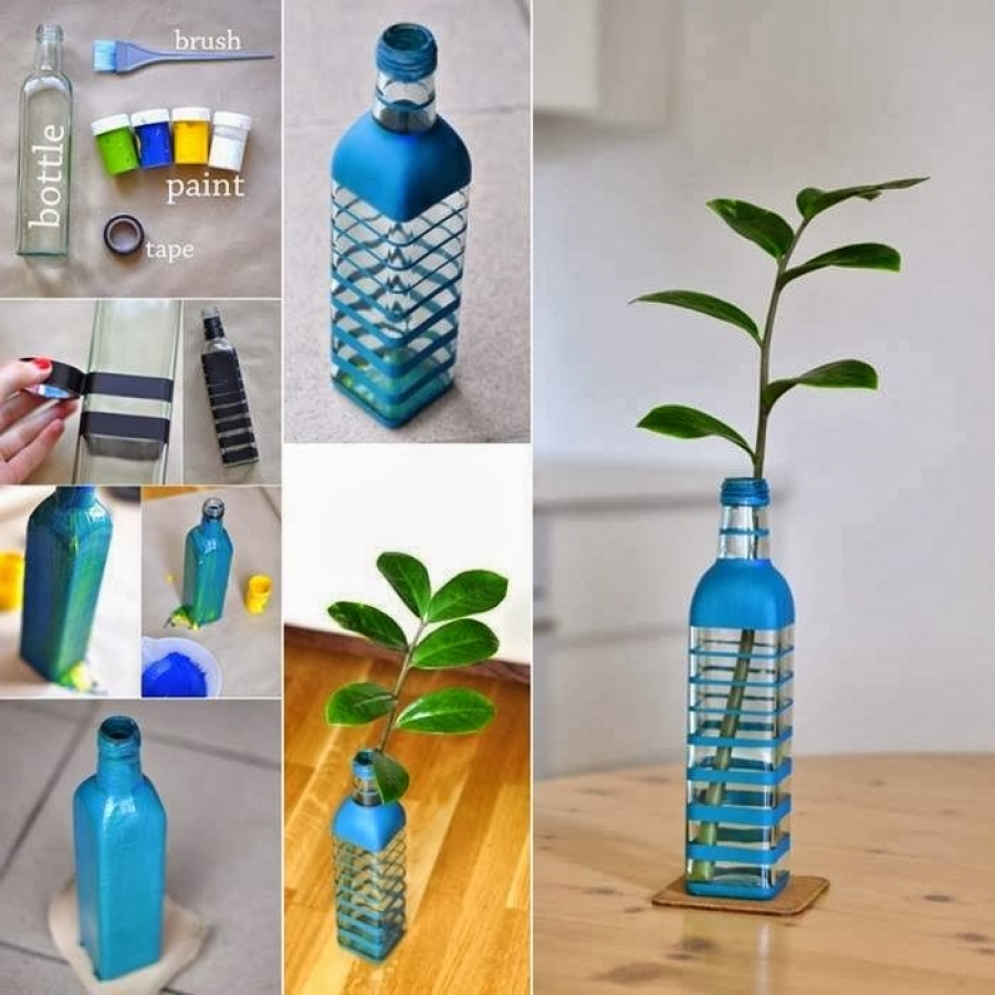 diy home decoration with flowers in the bottle my