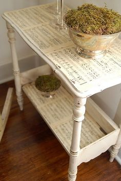 Furniture decoupage ideas1