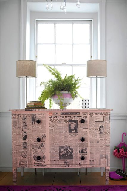 Furniture decoupage ideas12