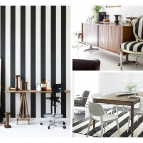 black and white stripes decor