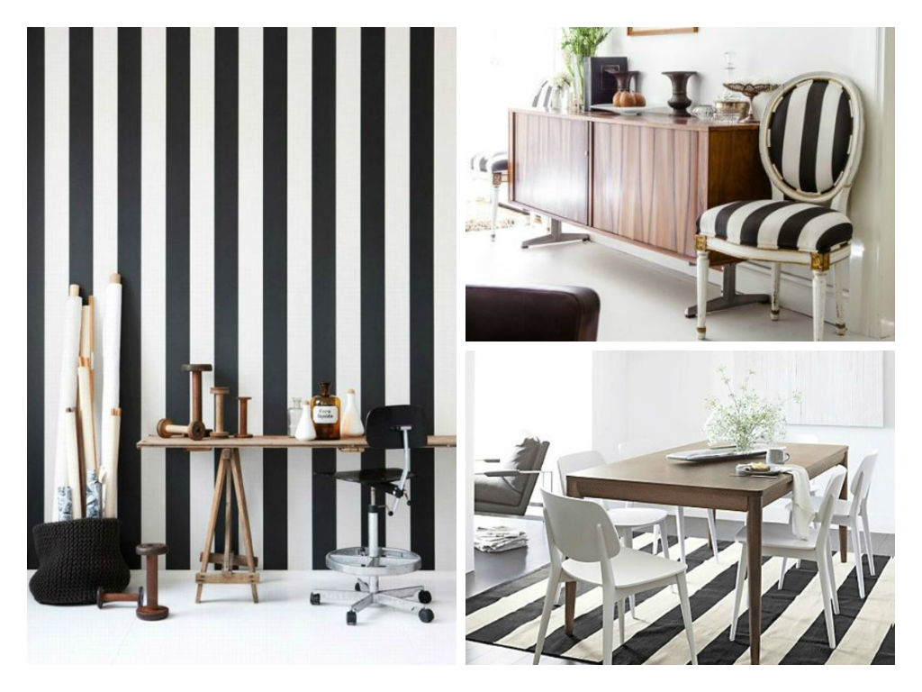 Stripes Decor How To Integrate Black And White In Decoration