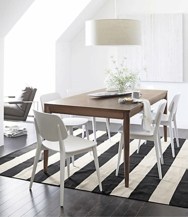 black and white stripes decor1