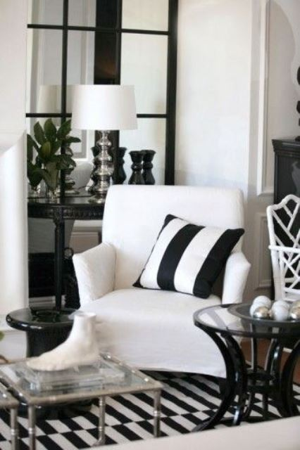 black and white stripes decor2