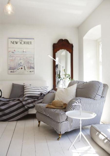 black and white stripes decor3